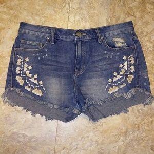 Free People Boho cutoff denim shorts